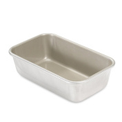 Kitchen 0.7kg Non Stick Natural Aluminium Bake Meat Loaf Pan with Scraper Combo