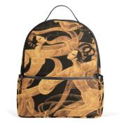 BENNIGIRY Ancient Beauty Dance Children Kids Book Bag School Backpack Handbag Girls Teen