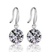 Elegent Drop Dangle Earrings for Women, KEERADS 925 Sterling Silver Twisted Diamonds Glittering Stud Earrings