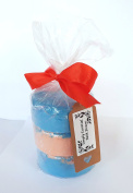 3 x Large Bath Bomb Floral Fizzers with ribbon and gift tag - Each Bath cake 200g