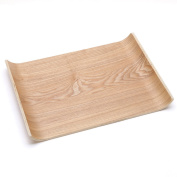 CJH Solid Wood Large Tray European-style Glass Tea Tray Simple Side Dish Tray Bread Fruit Plate Rectangular Wooden Plate