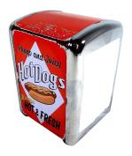 Serviette Dispenser Retro American Hot Dog 100 Napkins Set at an affordable price
