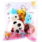 Esharing 5Pcs Medium Mini Soft Squishy Bread Toys Key,Perfect Gifts for Kids & Adults