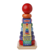 Richi Toddler Doug Rainbow Stacker Wooden Ring Counting Play Kids Educational Toy 16.53x 12.200cm x 9cm