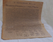 Declaration of Independence Parchment Paper US History - Rare, Suitable for collectors