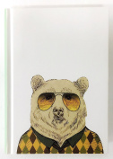 Dear Mr. Animal Notebook Blank Pages Planner 2018 Sketch Pad 19cm x 25cm (198 pages) BEAR Hardcover