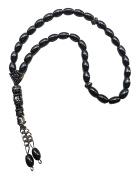 Hematite Metal 33 Prayer Beads Tesbih Rosary Stress Worry Kabblah Hand Islamic