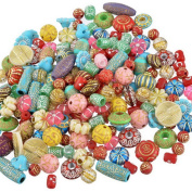 YC 100 Gramme Mixed Colour Gorgeous Round Acrylic Plastic Flower Beads