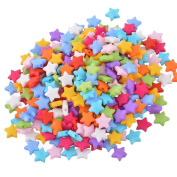 YC 500pcs 9x9mm Mixed Colour Acrylic Five-pointed Star Beads