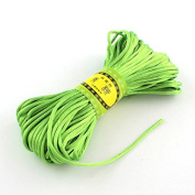 Angel Malone ® 1 x ± 20m x LIME Quality Rattail Satin Cord - 2mm Thickness - GR8 4 KUMIHIMO - 24 Colours Jewellery Making Findings - UK SELLER