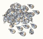 Playbox Pendants Diamond 50 Pcs, Silver, 15.5 x 11.5 x 1 cm