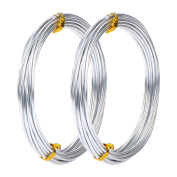 Hicarer Silver Plated Aluminium Wire for Jewellery and Craft Accessory, 10 Metres in Total