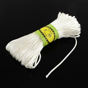 Angel Malone ® 1 x ± 20m x WHITE Quality Rattail Satin Cord - 2mm Thickness - GR8 4 KUMIHIMO - 24 Colours Jewellery Making Findings - UK SELLER
