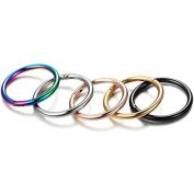 Zhichengbosi 5 Pcs Stainless Steel Nose Hoop Ring Body Jewellery Ring