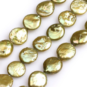 Natural Coin Freshwater Cultured Pearls Beads for Jewellery Making DIY