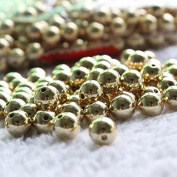 PriMI 100Pcs 4mm Gold Plated Metal Spacer Beads for DIY Bracelet Jewellery Accessories