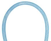 Nylon Mesh Tubing 4mm Blue, 2m