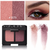 ✰ Eye Shadow ✰, Xinantime 2 Colours Cosmetic Makeup Shimmer Matte Naked Eyeshadow Palette Sombras