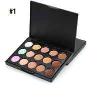 15 Colours Eye Shadow Palette , Kxnet Shimmer Set Face Concealer Camouflage Cream Contour Palette