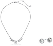 Kenneth Cole New York Delicates Collection Women's Crystal Stone Frontal Necklace and Earring Jewellery Set, Colour