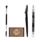 DMM Eye Brow Studio Shadow Pencil Brush Spoolie Razor Definer Tamer Shaping Kit