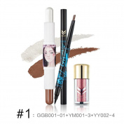 GSEASTBUY 3PCS/Set face corrector make up set beauty creative concealer sticks pen double head eyebrow pencil eyeliner eye shadow powder makeup suit eye shadow
