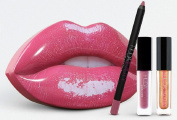 New Set Make Up Kit HUDA BEAUTY Contour & Strobe Lip Set, For Her, Gift Set, Gift Box, New Arrival, Lip Kit, Huda Beauty Make Up