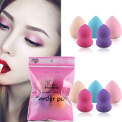 Kxnet 5PCS Pro Beauty Makeup Puff, Blender Foundation Puff Multi Shape Sponges Puff
