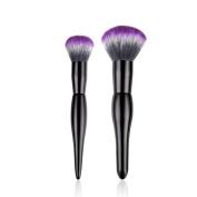 Makeup Brush Set,LUVERSCO 2 PCS New Fashion Small Black Pro Makeup Brushes Set Foundation Powder Eyeshadow Eyeliner Lip Brush Tool Individuality Cosmetic Tool