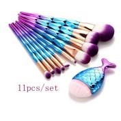 Makeup Brush Set,LUVERSCO 11PCS New Fashion Fony Make Up Foundation Eyebrow Eyeliner Blush in Beauty Foundation Professional Brush Cosmetic Tool