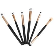 Makeup Brush Set,LUVERSCO 6PCS Cosmetic Makeup Brush Lip Eyeshadow Brush Foundation Professional Face Brush