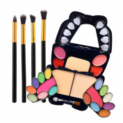 New Make-up Sets, GreatestPAK 4Pcs Makeup Brush + Eyeshadows Blush Cosmetics Matt Shimmer Palette