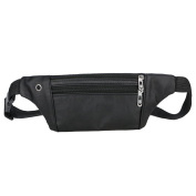 Waist Pack Bag Unisex Outdoor Sports Bag Casual Zipper PU Leather Bag Gift by LMMVP