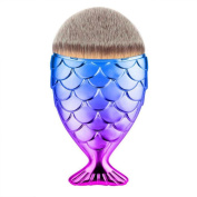 Make Up Brush Fish Scale Makeup Brush Fishtail Bottom Brush Foundation Powder Blush Eyebrow Eyeliner Lip Cosmetic Concealer KaloryWee Beauty Makeup Brush Chubby Mermaid