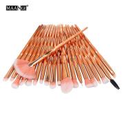 Unicorn Makeup Brushes - Diamond Multi-Coloured Synthetic Make Up Brushes KaloryWee Beauty Powder Blush Concealer Eyeshadow Brushes Set 20pcs