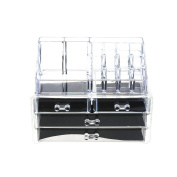 Domybest Makeup Organiser Plastic Transparent Cosmetic Storage Box Case Jewellery Toiletry Container