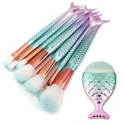 Make-up Sets, KaloryWee Beauty Unicorn Contour Make Up Brush Synthetic Hair Fishtail Foundation Eyebrow Eyeliner Blush Spiral Cosmetic Concealer Brushes Kit