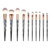 Makeup Brush Set 10pcs Make Up Foundation Eyebrow Eyeliner Blush Cosmetic Concealer Brushes