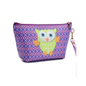 Lalang Women Make Up Bag Owl Print Cosmetic Pouch Cute Small Wash Bag Toiletry Beauty Organiser