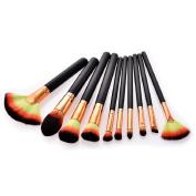 Jamicy 10 Pcs/Set Women Girls Makeup Brushes Set Beauty Cosmetic Set Tools