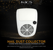 KADS Adjustable Nail Dust Collector Suction Fan with 2 Dust Collecting Bags, Powerful Nail Vacuum Cleaner Machine Manicure Tools, Practical Nail Art Salon Cleaning Equipment
