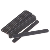 Profusion Circle 10pcs Nail Files Sanding 100/180 Round Grit for Nail Art Tips Nail Buffering Manicure Tool for Home and Salon Use