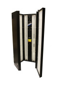 Black Shadow full body vertical Sunshower with 24 Tubes (EU Compliant) for safer tanning