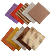 50PCS 10cm x 10cm Multi-Colour Embossing Aluminium Foil-- Square Sweets Candy Chocolate Lolly Paper Wrappers