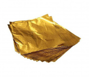 100PCS 10cm x 10cm Square Gold Aluminium Foil Paper Candy and Chocolate Wrappers for Packaging Dessert or Sweety Food