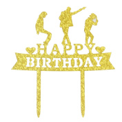 Happy Birthday Cake Topper- Michael Jackson Birthday Party Decoration Supplies
