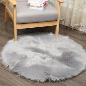 [ Soft ] Artificial Sheepskin Rug, [ Chair Cover ] Artificial Wool Warm [ Seat Mat ] Hairy Carpet