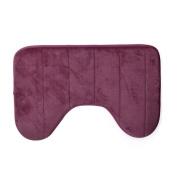 [U-Shaped Bath Mats ] Home [Anti Slip Floor Mat ] Bathroom [Cotton Rug Bathing] Red 14cm x 60cm