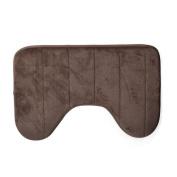 40 x 60cm [U Shaped] Bath Mats [Anti Slip] Home Bathroom Floor Mat [Cotton] Rug Bathing Coffee