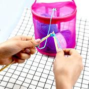 Anshinto New Mesh Bag Lightweight Portable Yarn Crochet Thread Storage Organiser Tote